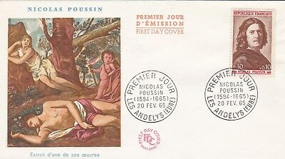 France 1965 Fdc Nicolas Chick The Andelys Yt 1443