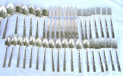 Oneida Community..morning Star..silverplated..flatware..42 Pieces