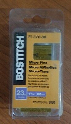 3000 per Box BOSTITCH PT-2330-3M 1-3//16-Inch 23 Gauge Pin