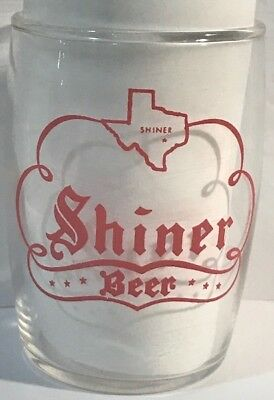 Shiner Texas Beer Barrel tasting short Glass