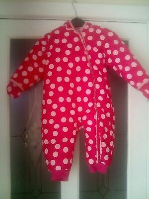 Baby Girl Pink Snow Suit & Mittens. ( Age 12 - 18 Month ) Marks & Spencer.