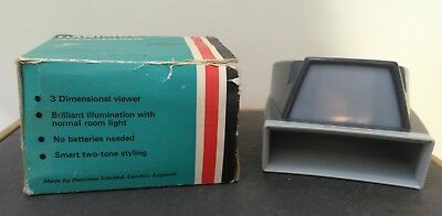 "Hanimex ""Hanorama"" Slide Viewer (no batteries needed) for 2 x 2 slides boxed"