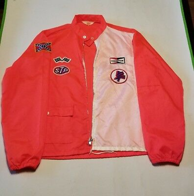 RARE Vintage 1970 Revell Shelby Racing Jacket with Patches from Model Car Ad