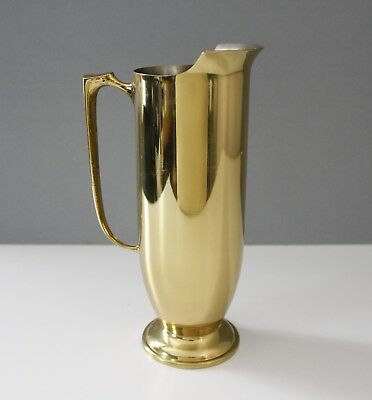 Vintage Brass Cocktail Serving Pitcher Mid Century Italy