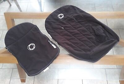 Bugaboo cameleon 1&2 black fleece fabric apron and seat cover
