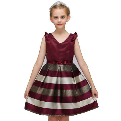 8b56eb08e2b3c GIRLS CHRISTMAS STRIPED Dresses Animal Appliques Dress Kids Long ...