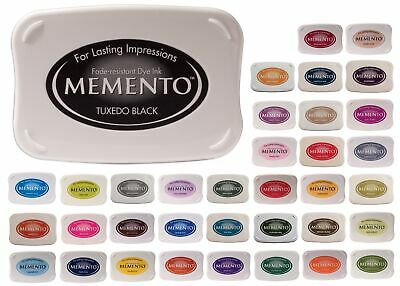 Tsukineko Memento Ink Pad LARGE Rubber Stamp Quick Dry Fade Resistant Dye