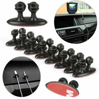 8pc Car Auto SUV Cellphone Headphone Line Cable Clamps Cord Organizer Universal