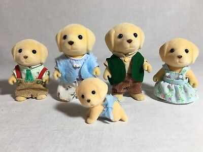 Calico Critters/sylvanian Families Yellow Lab Family Of 5 Dogs