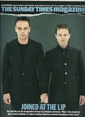 Ant And Dec Terry O'neil Awards Indian Abortions Wasps Sunday Times Mag 26.08.07