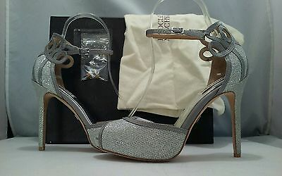 Badgley Mischka Smolder Women's Matallic Shimmery Evening Heels Sandals Size 6 M