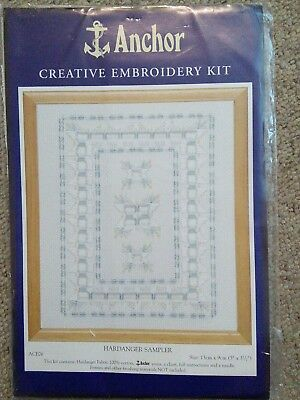 Anchor Hardanger embroidery sampler kit, 13x9cm.