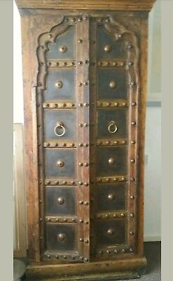 Stunning Antique Indian Style Hard Wood Hand Carved  Cabinet/cupboard