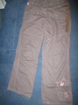 Next Brown Embroidered Trousers Age 13 Vgc