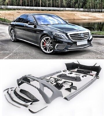 Mercedes Benz W222 S class S65 AMG Full body kit bumper conversion+EXHAUST TIPS