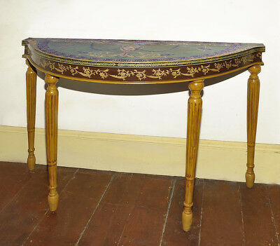 Rare Trouvailles French Louis XVI Paint Decorated Console ~ Sofa Serving Table