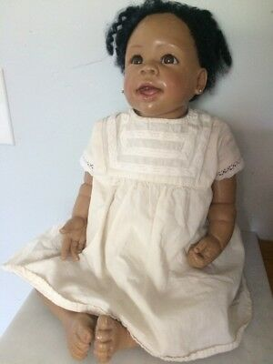 Ashton Drake Baby Doll Realistic Lifelike Weighted African American
