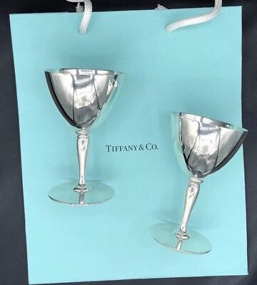 Tiffany &Co Makers Sterling Silver 925 Two Martini Cups 18885M Authentic Vintage