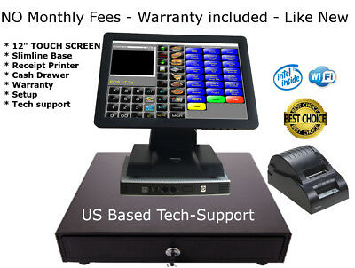 HP Touch screen POS  Point of Sale System Hardly Used Bar Restaurant Retail