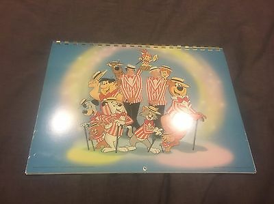 Hanna Barbera Superstars 10 Calendar 1988 Singed By Bill Hanna! Collectable!