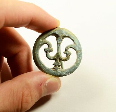 Rare Ancient Roman Open-Work Phallera Brooch/Fibula - 2nd - 3rd century A.D.