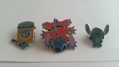 Disney Stitch pin Lot Of 3 Pins