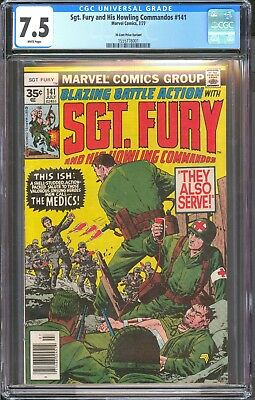 SGT FURY 141 35 Cent Variant CGC 7.5 Blue Label White Pages / Hi Res Scans