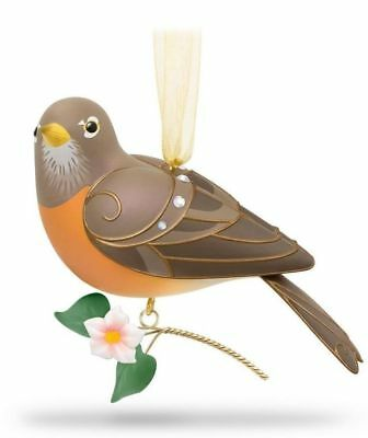 Hallmark 2018 Lady Robin Beauty of Birds Premier Ltd Ed Keepsake Ornament NIB