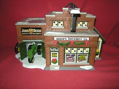 Department 56  Snow Village  'buck's County Abner's Implement Co.'