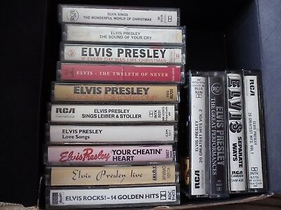 Elvis Presley Cassette Tapes: Choose From Drop Down List