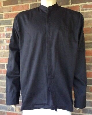 Chef Cook's Jacket Plymouth English Gin Black Button Front - XL