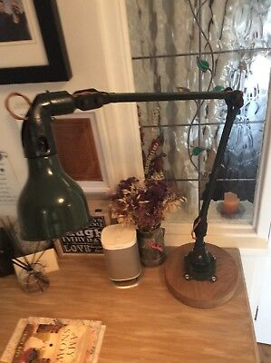 Industrial Chic MEK ELEK 2 arm angle-poise lamp restored And re wired.