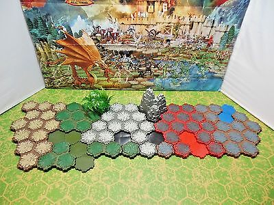 Heroscape 79-hex Dungeon, Lava, Swamp, Rock Outcrop & more Terrain Add-on