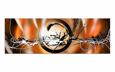 Deco Glasbild AG9-055/ 90x30cm ELECTRIC EARTH ORANGE DESIGN Wandbild