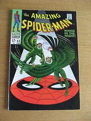Amazing Spiderman #63 (1968 Marvel) [VF+ condition] App The Vulture