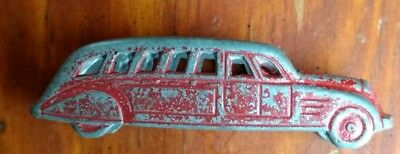 1930's CRACKER JACK TOOTSIETOY STREAMLINED ART DECO TOUR BUS in RED
