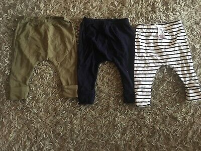 next baby boy pack of 3 leggings 6-9 months