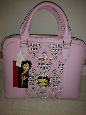 Betty Boop licensed pink sequinned handbag. Manufactured and distributed by anne
