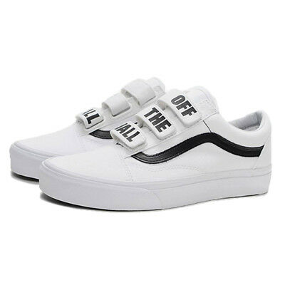 Vans Mens Size 9 Old Skool V Off The Wall True White Sneakers New  VN0A3D29R2Q e8d36b128