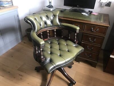 Mahogany Desk and Captions Chair