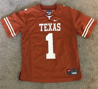 Girls Or Boys  Nike Size Small Texas Longhorns Jersey #1 Pre-owned