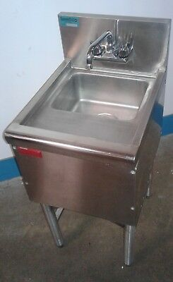 Commercial Single SS Under Bar Sink, Bar Hand Sink, Dump Station. Our#1