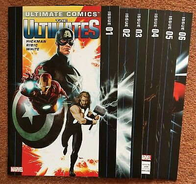 Ultimate Comics: The Ultimates #1-6 (6 Issue Lot, Marvel 2011) Hickman Ribic