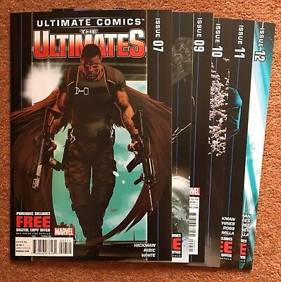 Ultimate Comics: The Ultimates #7-12 (6 Issue Lot, Marvel 2012) Hickman Ribic