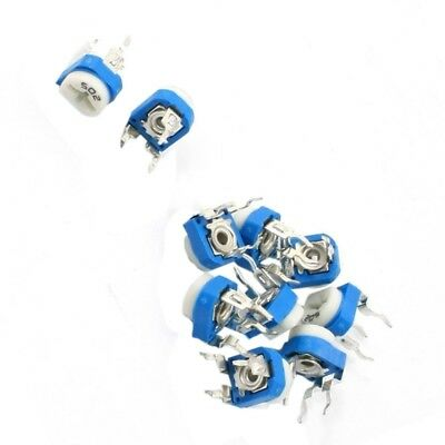 2X(10Pcs 5K Ohm Single Turn Potentiometer Pot Rotary Variable Resistor T1U9) SQ