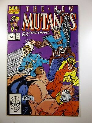 """The New Mutants #89 """"If A Hero Should Fall!"""" Early Cable!! VF-NM Condition"""