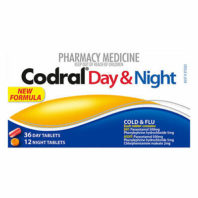 NEW Codral PE Cold & Flu Day & Night - 48 Tablets