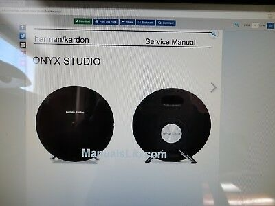 HARMAN KARDON ONYX Studio 1,2 service manual ,schematic on pdf file