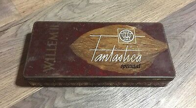 Vintage Willem II Fantastica Special Cigars Tin- Made In Holland- Rare- 25 Cigar