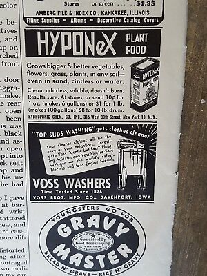 1946 print ad-Voss Washers-Top Suds Washing-Gets Clothes Cleaner